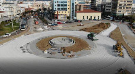 Βόλος: Πήρε μορφή ο νέος κυκλικός κόμβος στο Δημαρχείο [εναέριες εικόνες]