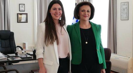 Συνάντηση της Υφυπουργού Μ. Χρυσοβελώνη με την υποψήφια Ευρωβουλευτή του ΣΥΡΙΖΑ Ουφούκ Μουσταφά