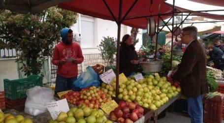 Στη λαϊκή αγορά της Ν. Δημητριάδας ο Απόστολος Παπαδούλης [εικόνες]