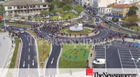 Βόλος: Παραδόθηκε ο νέος κυκλικός κόμβος στο Δημαρχείο [εναέριες εικόνες και βίντεο]
