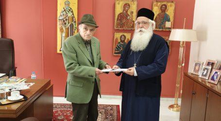 Στον Μητροπολίτη Ιγνάτιο για το νέο του βιβλίο ο Νικόλας Δεληγεώργης