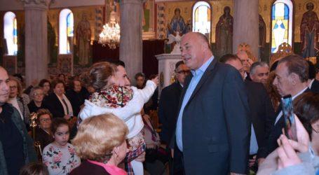 Στον Άγιο Κωνσταντίνο εκκλησιάστηκε ο Αχ. Μπέος με τους συνεργάτες του