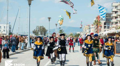 Παρέλαση – επίδειξη των Ιταλών σημαιοφόρων από την Ferrara στην παραλία του Βόλου [εικόνες]