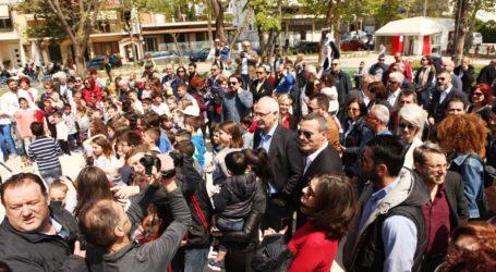Παραδόθηκε η νέα παιδική χαρά στην πλατεία Αβέρωφ (φωτο)