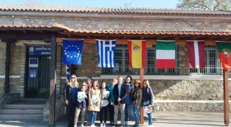 Ευρωπαίους μαθητές υποδέχθηκε το Δημοτικό Σχολείο της Ανάβρας Αγιάς Λάρισας