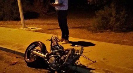 Τροχαίο με μηχανή στο κέντρο της Λάρισας το βράδυ της Δευτέρας