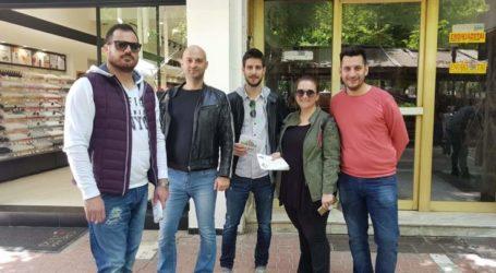 Καταστήματα του κέντρου επισκέφθηκε ο Νίκος Γαμβρούλας και μέλη της Ορμής Ανανέωσης