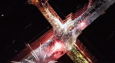 Βόλος: Δείτε εναέρια πλάνα από τα επινίκια Μπέου [βίντεο]