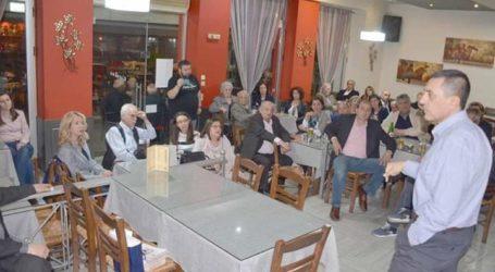 Επίσκεψη και ομιλία στον Τύρναβο πραγματοποίησε ο Δημήτρης Κουρέτας