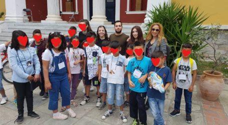 Εκπαιδευτικό πρόγραμμα στο Αρχαιολογικό Μουσείο Βόλου σε προφυγόπουλα από φοιτητές του Π.Τ.Ε.Α του Πανεπιστημίου Θεσσαλίας