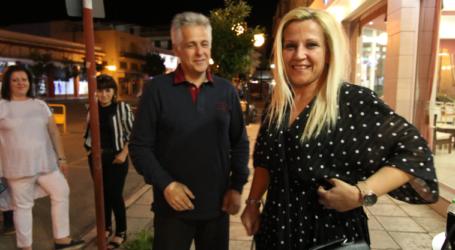 Με δάκρυα χαράς η Δωροθέα Κολυνδρίνη στο εκλογικό κέντρο Αγοραστού