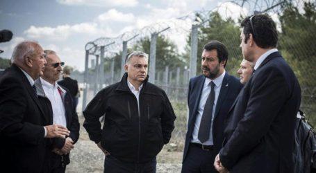 Περιοδεία Όρμπαν – Σαλβίνι στον συνοριακό φράχτη της Ουγγαρίας