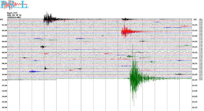 Δείτε πώς κατέγραψε τη δόνηση ο σεισμογράφος του Πανεπιστημίου Πατρών που είναι εγκατεστημένος στη Σεργούλα.