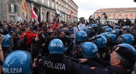 Διαδηλώσεις και επεισόδια στη Νάπολη, με αφορμή την επίσκεψη Σαλβίνι