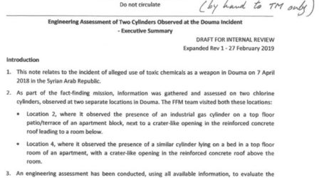 Αμφισβητείται η επίσημη έκθεση για την επίθεση με χημικά στη Ντούμα το 2018