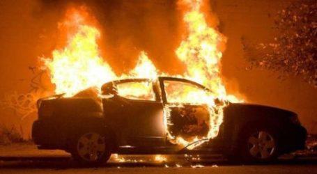 Αίγιο: Στις φλόγες αυτοκίνητο αστυνομικού