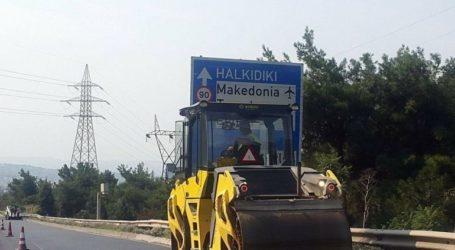 Συνεχίζονται οι εργασίες συντήρησης από την ΠΚΜ στην Περιφερειακή Οδό Θεσσαλονίκης