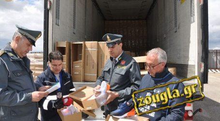 Eπώνυμα μαϊμού προϊόντα από την Ελλάδα αξίας μισού εκατ. ευρώ κατέσχεσαν οι Ιταλοί