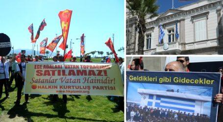 Εθνικιστική φαρσοκωμωδία έξω από το Ελληνικό Προξενείο της Σμύρνης