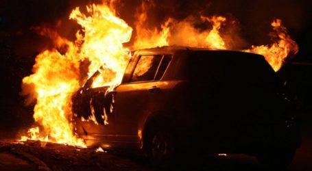 Στάχτη έγινε το αυτοκίνητο στον Αποκόρωνα Χανίων