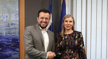 Τη συμμετοχή της Ελλάδας σε διαστημικά προγράμματα συζήτησε ο Ν. Παππάς με την Ελ. Μπιενκόφσκα