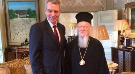 Δηλώσεις Αμερικανού πρέσβη μετά τη συνάντησή του με τον Οικουμενικό Πατριάρχη
