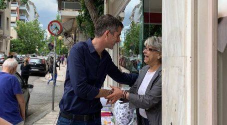 Στις γειτονιές της Αθήνας μέχρι την τελευταία μέρα της προεκλογικής περιόδου ο Κώστας Μπακογιάννης