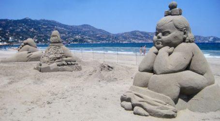 Εντυπωσιακά έργα από άμμο στο 4ο φεστιβάλ γλυπτικής στην Αμμουδάρα