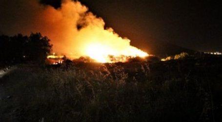 Πυρκαγιά σε χωματερή στο Μαρκόπουλο