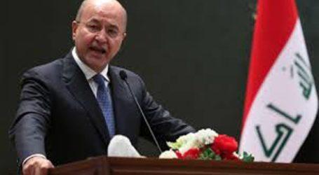 Ο πρόεδρος του Ιράκ προειδοποίησε ότι μπορεί να ξεσπάσει ένοπλη σύρραξη στην περιοχή
