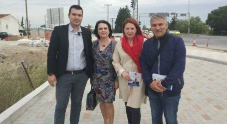 """Υποψήφιοι της """"Λαρισαίων Κοινόν"""" στην οδό Βόλου"""