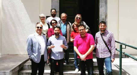 Κατέθεσε και ο Ιάσονος Αποστολάκης την υποψηφιότητα του συνδυασμού «Μαζί για τον Βόλο»