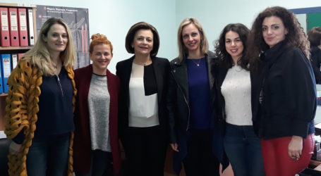 Επίσκεψη Μ. Χρυσοβελώνη στον Ξενώνα Κακοποιημένων Γυναικών Δήμου Βόλου