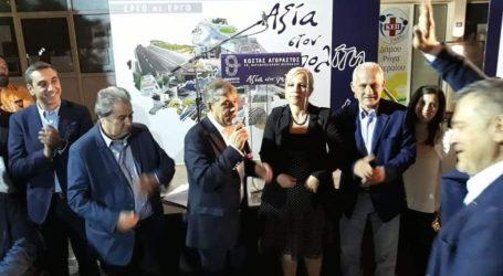 Εγκαινίασε το εκλογικό κέντρο του στο Βελεστίνο ο Κ. Αγοραστός