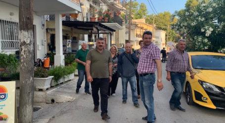 Ενθουσιώδης υποδοχή για τον Μιχ. Μιτζικό στην Άφησο ενόψει β' γύρου στο Νότιο Πήλιο