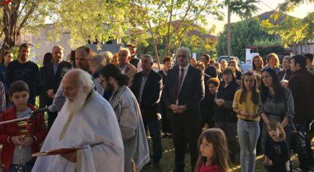 Στο Συκούριο για τον εορτασμό του Αγίου Ραφαήλ ο δήμαρχος Τεμπών Κώστας Κολλάτος