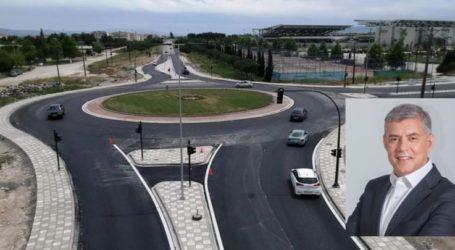 Παραδόθηκε σε κυκλοφορία από την Περιφέρεια Θεσσαλίας ο νέος κυκλικός κόμβος στο ύψος του Διαχρονικού Μουσείου και του γηπέδου της ΑΕΛ