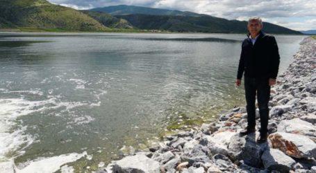 Στη λιμνοδεξαμενή στο Καστρί Αγιάς ο Περιφερειάρχης Θεσσαλίας