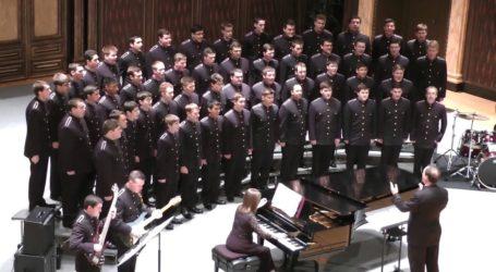 Η βραβευμένη με Emmy διάσημη πανεπιστημιακή χορωδία δοκίμων Texas A&M Singing Cadets στο Βόλο