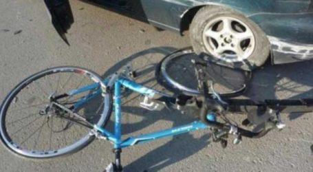 Παράσυρση ποδηλάτη στην οδό Βόλου στη Λάρισα