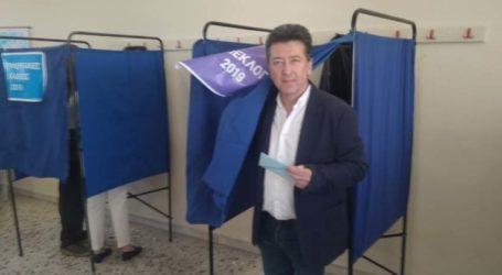 Το εκλογικό του δικαίωμα άσκησε ο Ν. Πουτσιάκας