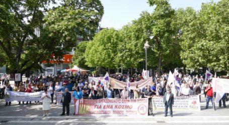 Οι απεργιακές κινητοποιήσεις σήμερα Πρωτομαγιά στη Λάρισα