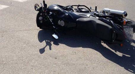 Τροχαίο με μοτοσικλέτα έξω από τη Λάρισα – 40χρονος μεταφέρθηκε στο Γενικό Νοσοκομείο