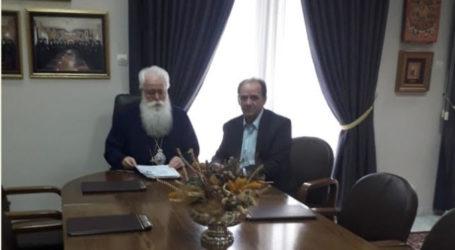 Εποικοδομητική συνεργασία με τον Σεβ. Μητροπολίτη κ. Ιγνάτιο είχε ο Δήμαρχος Ζαγοράς – Μουρεσίου Παν. Κουτσάφτης