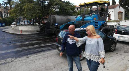 Ασφαλτικές εργασίες στον δρόμο Χάνια – Κισσός και Δράκεια – Χάνια