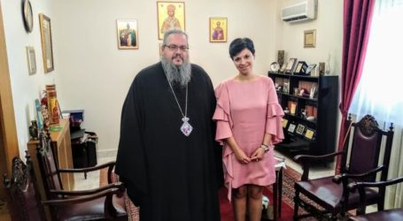 Με τον σεβασμιότατο Ιερώνυμο συναντήθηκε η Μαρία Γαλλιού