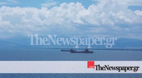 Άσκηση «Καταιγίδα» και στον Παγασητικό κόλπο – Τρια πολεμικά πλοία πλέουν στα ανοιχτά του Βόλου[εικόνες]