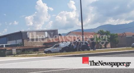 Βόλος: Αυτοκίνητο πήρε φωτιά εν κινήσει [εικόνες]