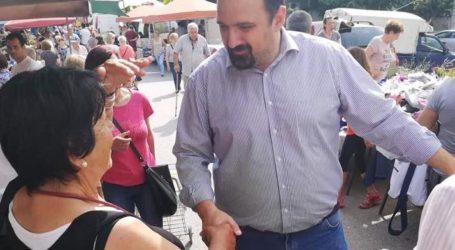 Χρ. Τριαντόπουλος: Περιοδεία στην αγορά της Ν. Αγχιάλου