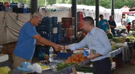 """""""Όργωσε"""" τις λαϊκές αγορές ο Γιώργος Κατσιαντώνης"""